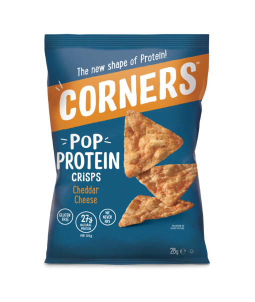Corners 28g Protein Cheddar Front – PNG